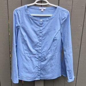Halston Blue Bell Sleeve Top Size S/P
